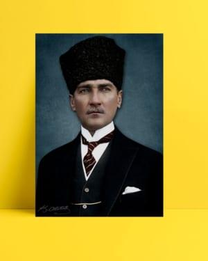 Atatürk Kalpaklı Posteri