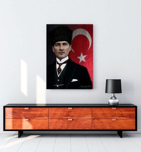 Atatürk Kalpaklı Tablo