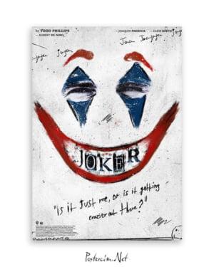 Joker 2019 Poster - White afişi
