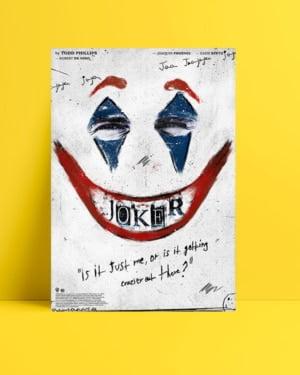 Joker 2019 Poster - White posteri