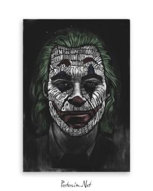 Joker 2019 Poster - Tipografi afişi