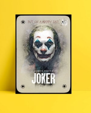 Joker 2019 Poster - Kart posteri