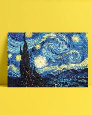 Vincent van Gogh - Yıldızlı gece posteri