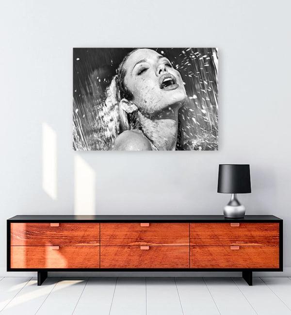Angelina Jolie Posteri - Siyah Beyaz 2 kanvas tablo