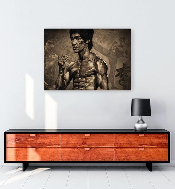 Bruce Lee Posteri kanvas tablo