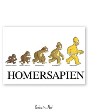 Homer Simpson - Homersapien afişi
