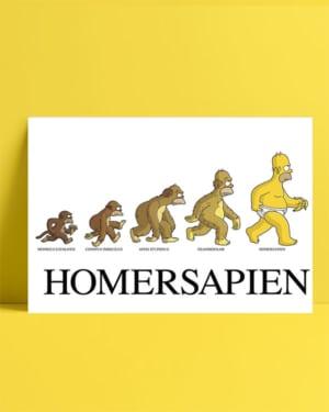 Homer Simpson - Homersapien posteri