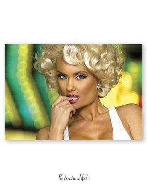 Marilyn Monroe - Renklendirilmiş afişi