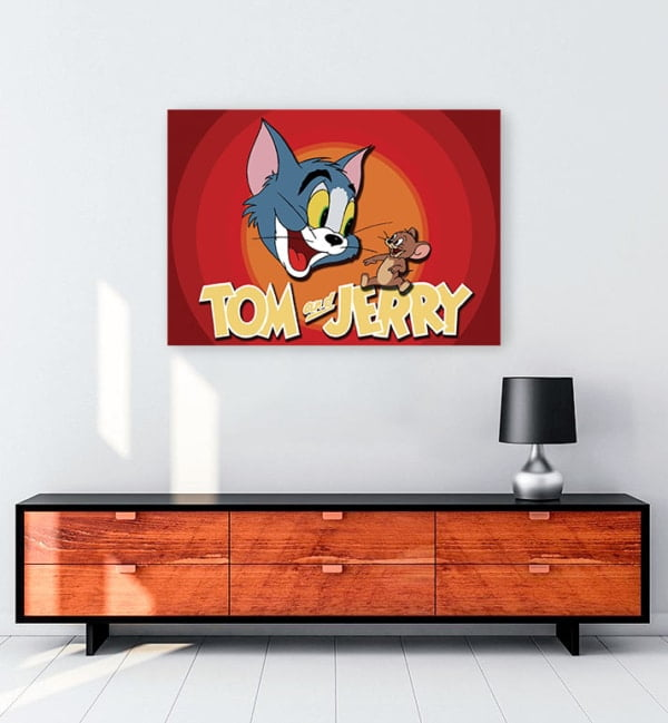 Tom ve Jerry kanvas tablo
