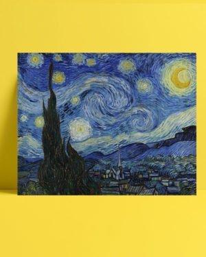Van Gogh - Yıldızlı Gece tablosu