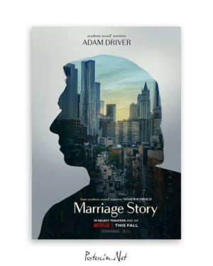 Marriage Story Adam Driver afişi