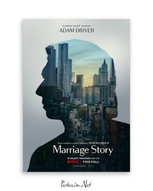 Marriage Story Adam Driver afişi