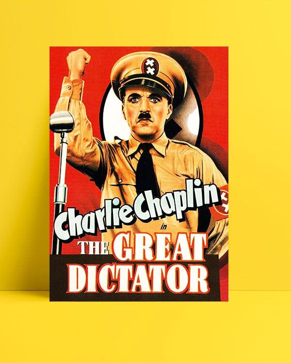 The Great Dictator film posteri Büyük Diktatör film posteri