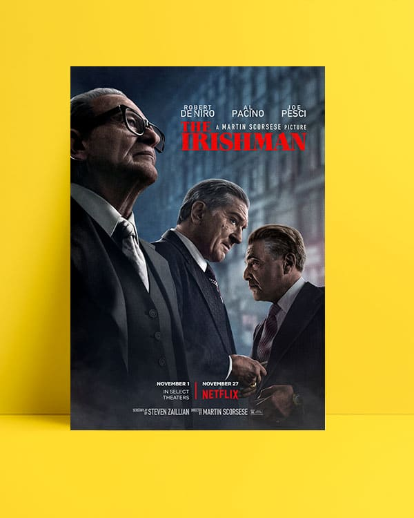 The Irishman posteri