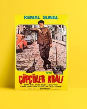Çöpçüler Kralı film posteri, yeşilçam film afişleri