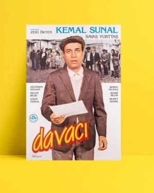 Davacı film posteri, yeşilçam film afişi