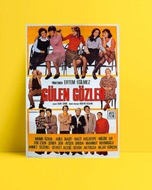 Gülen Gözler film posteri, yeşilçam film posteri