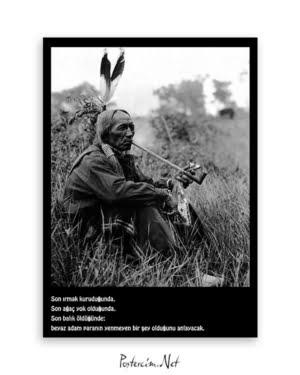 kızılderili poster