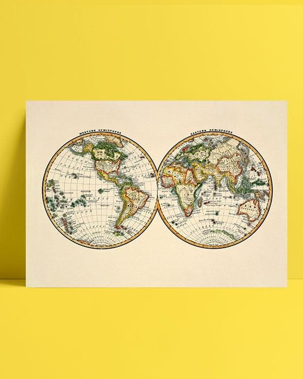 iki Parça Dünya Haritası afiş