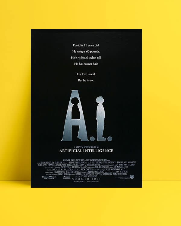 A.I. Artificial Intelligence film posteri