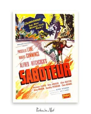 Saboteur afiş