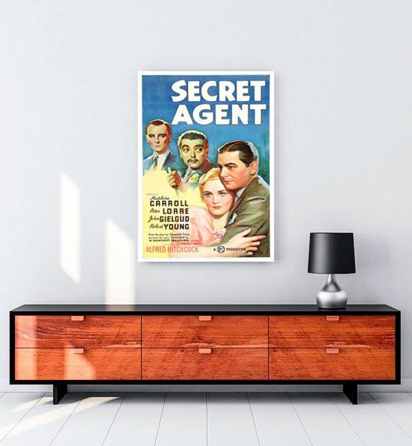 Secret Agent kanvas tablo