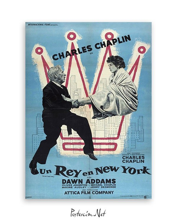 A King in New York afiş