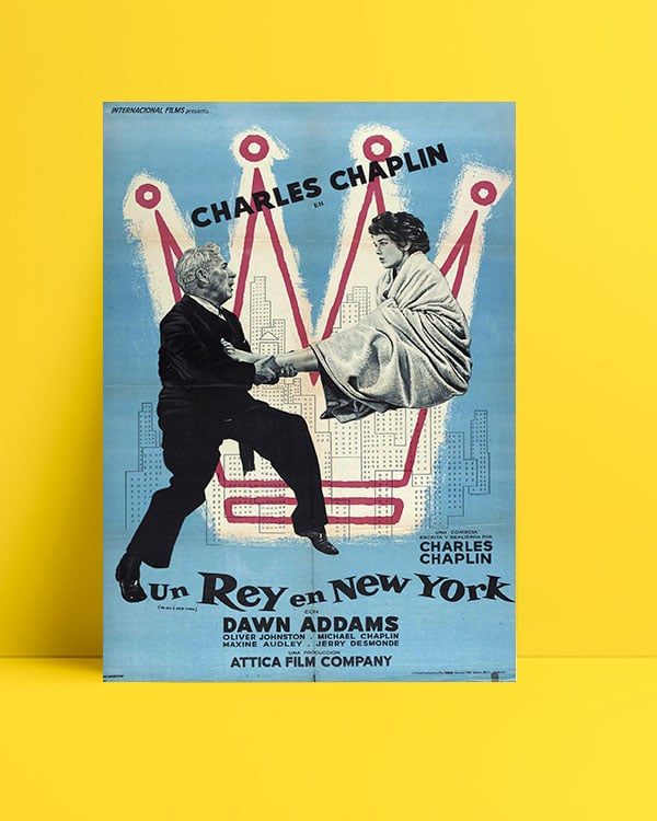A King in New York poster
