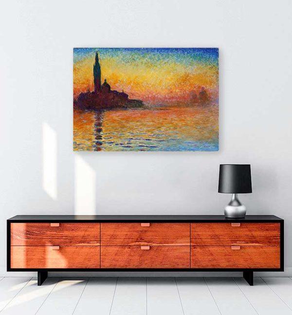 Claude Monet Alacakaranlıkta San Giorgio Maggiore kanvas tablo