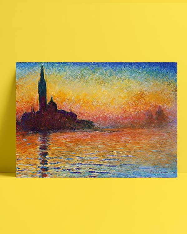 Claude Monet Alacakaranlıkta San Giorgio Maggiore Posteri