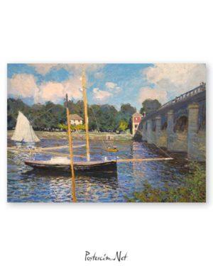 Claude Monet - Argenteuil Köprüsü posteri