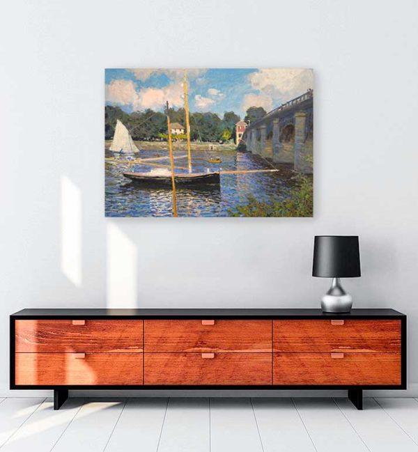 Claude Monet - Argenteuil Köprüsü kanvas tablo