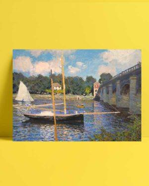 Claude Monet - Argenteuil Köprüsü afişi