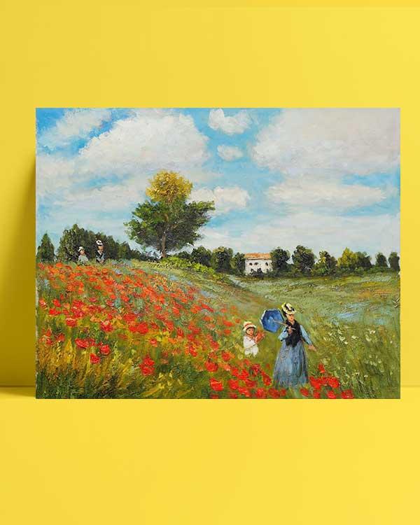 Claude Monet Gelincikler afişi