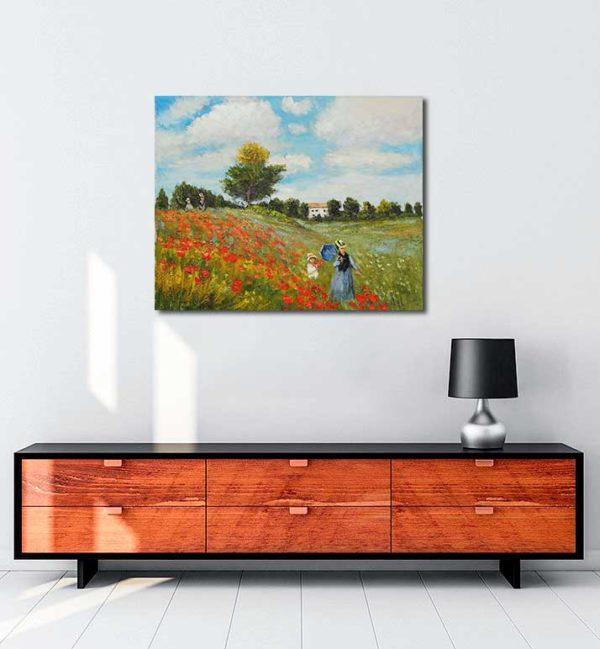 Claude Monet Gelincikler kanvas tablo