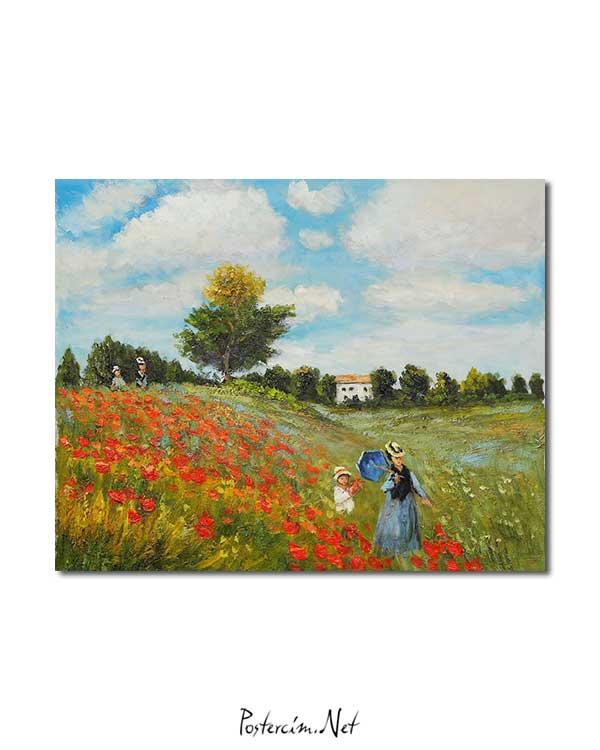 Claude Monet Gelincikler posteri
