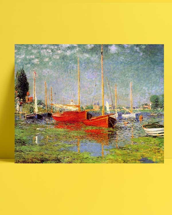 Claude Monet - Argenteuil'de Gezi Tekneleri afişi
