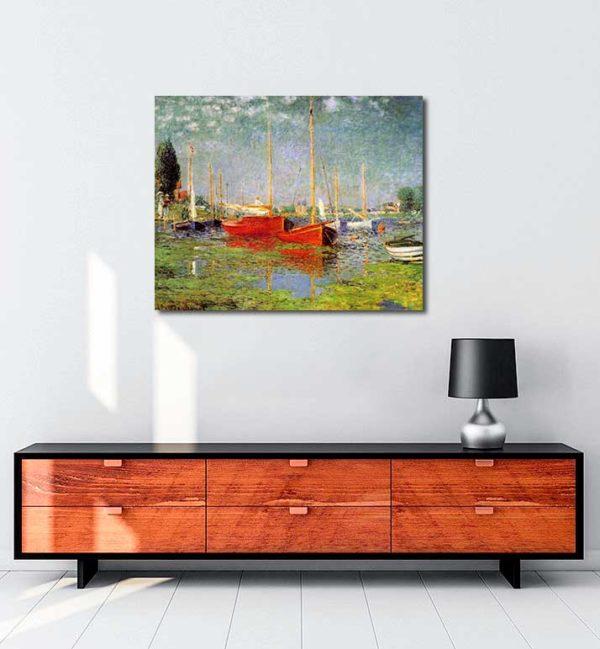 Claude Monet - Argenteuil'de Gezi Tekneleri kanvas tablo