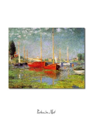 Claude Monet - Argenteuil'de Gezi Tekneleri posteri