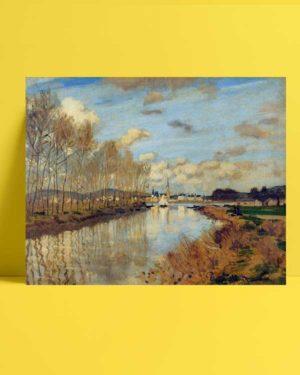 Claude Monet - Argenteuil'de Seine Nehri'nin Küçük Bir Kolu afişi