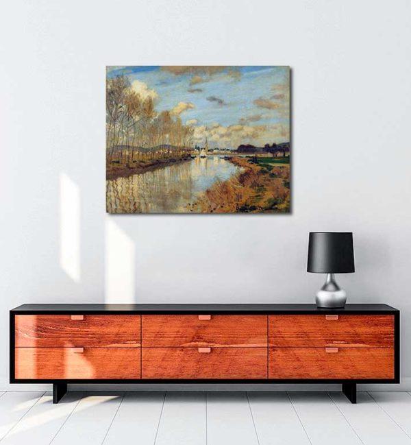 Claude Monet - Argenteuil'de Seine Nehri'nin Küçük Bir Kolu kanvas tablo