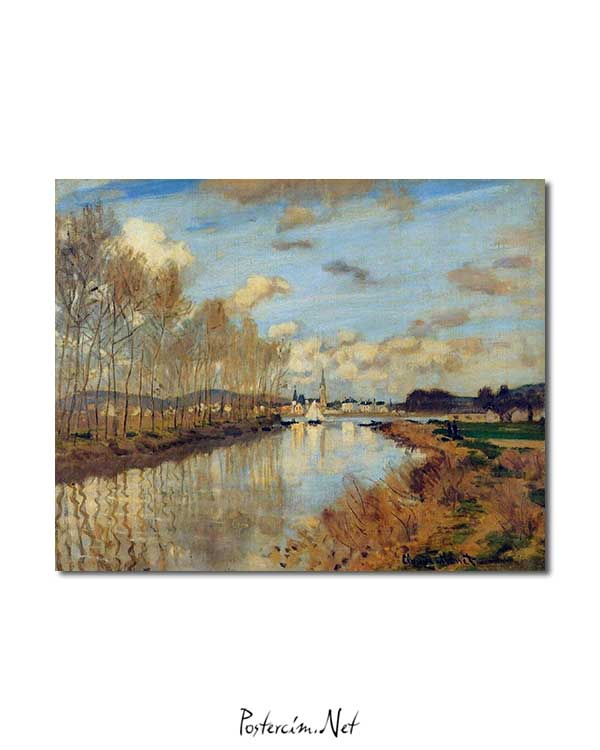 Claude Monet - Argenteuil'de Seine Nehri'nin Küçük Bir Kolu posteri