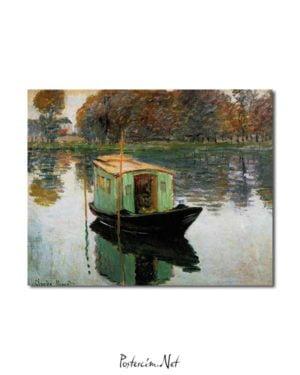 Claude Monet - Atölye Tekne afişi