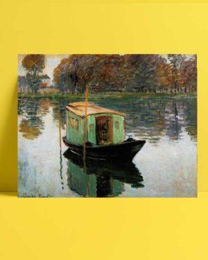 Claude Monet - Atölye Tekne poster