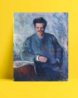 Edvard Munch - August Stindberg afişi
