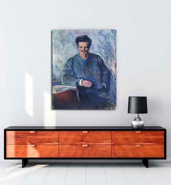 Edvard Munch - August Stindberg kanvas tablo