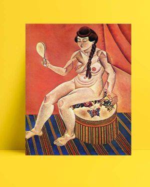 Joan Miró - Aynalı Model afişi