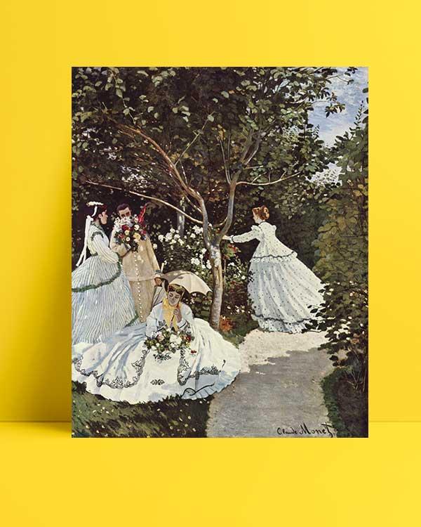 Claude Monet - Bahçedeki Kadınlar afişi