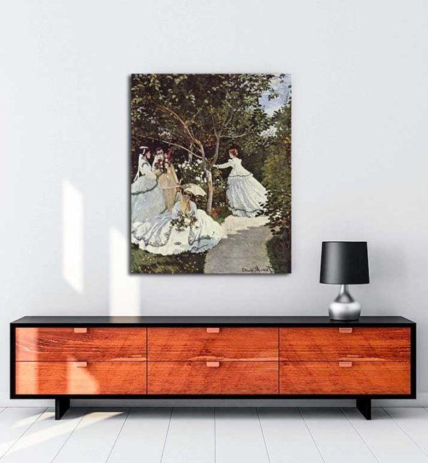 Claude Monet - Bahçedeki Kadınlar kanvas tablo