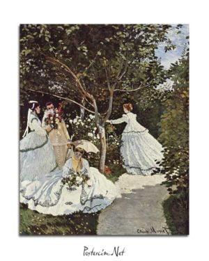 Claude Monet - Bahçedeki Kadınlar posteri